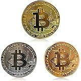 ビットコイン 3枚入り Bitcoinコレクションギフト 記念硬貨 仮想通貨 景品 アートコレク