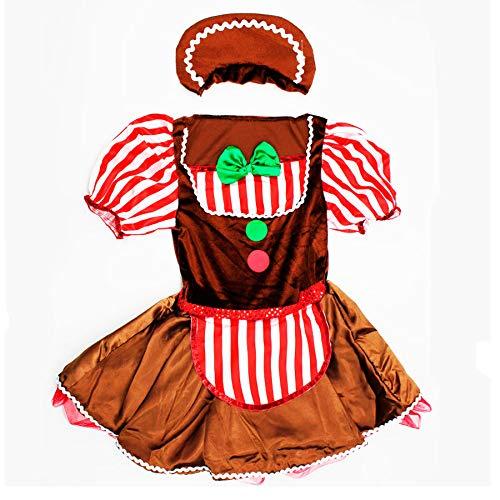 Master Lap Disfraz Niña Galleta Jengibre Navidad 3/4 años