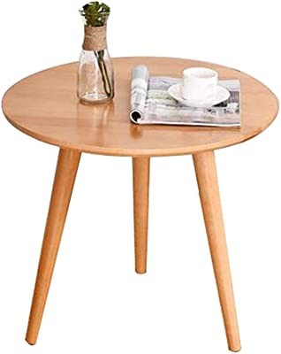 Creative Bamboo Round Table Hotel Japanese-Style Sofa Side Table Living Room Coffee Table Diameter: 19.7 ″ Height: 15.7 ″