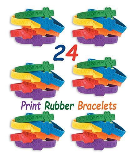 24 Rubber Bracelets By 4E's Novelty