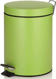 Kela Step Trash Can with Lid Kira Collection, Green