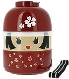 Tierra Zen Japonesa Sakura Bento Lunch Box Modelo # 50617 (japón importación)