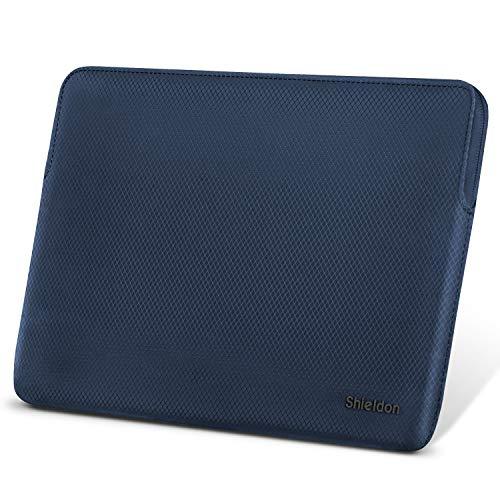 SHIELDON Laptoptasche, Schutzhülle 13-13,3 Zoll, Sleeve Case Wärmeableitung, Wasserabweisende Stoßfeste Laptophülle Kompatibel mit MacBook Air Retina/MacBook Pro Retina/Surface Laptop2, Blau