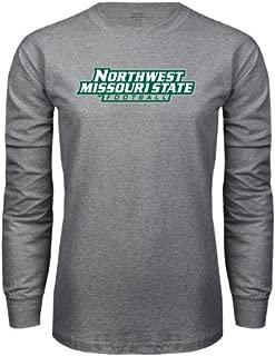 CollegeFanGear Northwest Missouri State Grey Long Sleeve T Shirt 'Football'