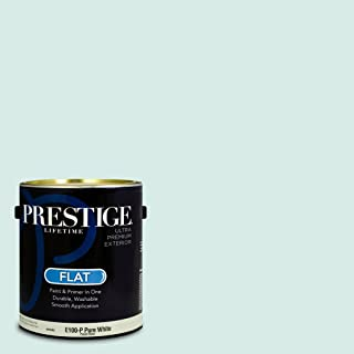 Prestige Paints E100-P-SW6483 Exterior Paint and Primer in One, 1-Gallon, Flat, Comparable Match of Sherwin Williams Bouyant Blue, 1 Gallon, SW22-Bouyant