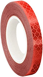 3M 3432 Red Micro Prismatic Sheeting Reflective Tape, 0.5