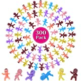 Mini Plastic Babies for Baby Shower, Selizo 300pcs Tiny Baby Figurines Mini Babies Bulk for Ice Cube Babies, Small King Cake Babies, My Water Broke Baby Shower Games (6 Colors)