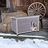 Aivituvin Outdoor Heated Dog House, Insulated Dog Kennel for Winter -200% Thicker Wood Panels