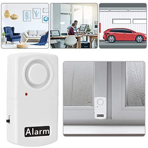 Sensor de Alarma vibratorio de Seguridad antirrobo de Ventana de Puerta de 120dB inalámbrico con Sonidos de Alarma Fuertes para Seguridad de Tiendas