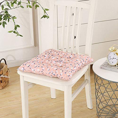 XLHZKAL Chair cushion,Printed Chairs Seat Cushion Small Floral Square Stool Cushion Garden Furniture Chair Cushion,Pink,Dobby,40x40cm