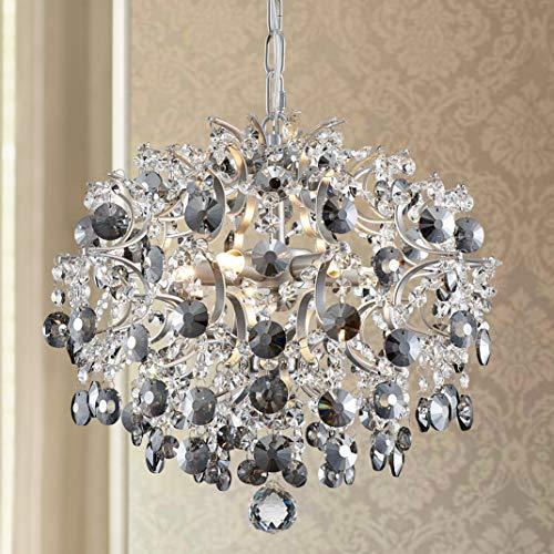 Bestier Modern Pendel Kronleuchter Kristall Regentropfen Beleuchtung Deckenleuchte Lampe für Esszimmer Badezimmer Schlafzimmer Wohnzimmer 5 G9 Lampen Erforderlicher Durchmesser 40 cm Höhe 45 cm