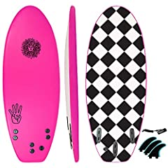 [Summary]: The 4-4 Surfboard is... guess how long? If you guessed 4ft 4in, then you're exactly right! This mini kids surf board is a perfect beginners surfboard for kids and adults alike with plenty of volume to catch waves easily. With removable fin...