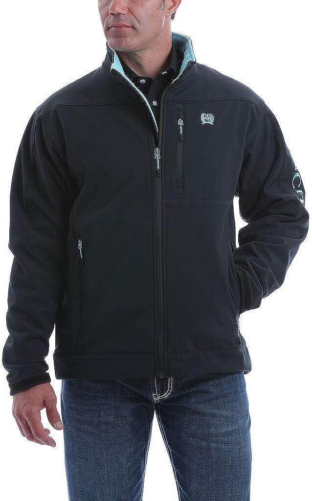 Cinch Men's Logo Solid Softshell Bonded Jacket