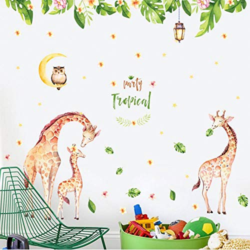 YCEOT muursticker 160 * 180 cm grote giraf kinderkamer wooncultuur muursticker DIY cartoon dier baby kinderkamer decoratie poster