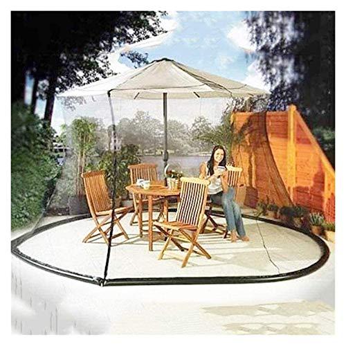 HYZXK Malla para Cubierta de Paraguas, Sombrilla para jardín al Aire Libre, Pantalla para Mesa, Sombrilla, Cubierta para Mosquitos para jardín al Aire Libre, Cubiertas para sombrilla de