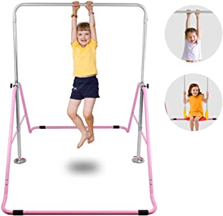ONETWOFIT Gymnastics Expandable Junior Training Monkey Bars Climbing Tower Child Play Training Gym Pink OT128