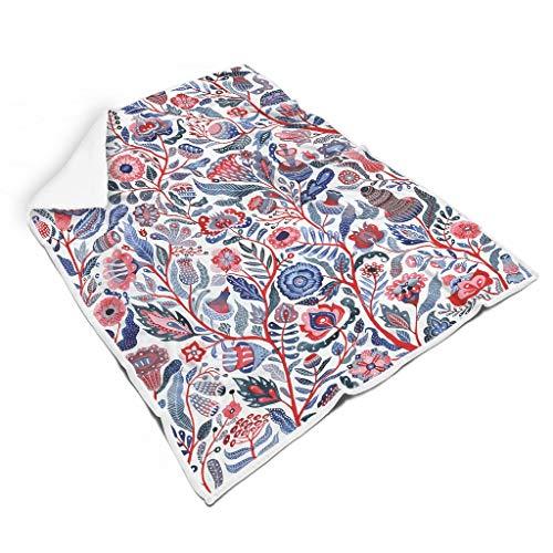 Vrnceit Flower, Mandala kuschelig Verschiedene Muster weiche Decke für Reise All Season Square Blankets für Kinder oder Erwachsene Familienstil Flower White 150x200cm
