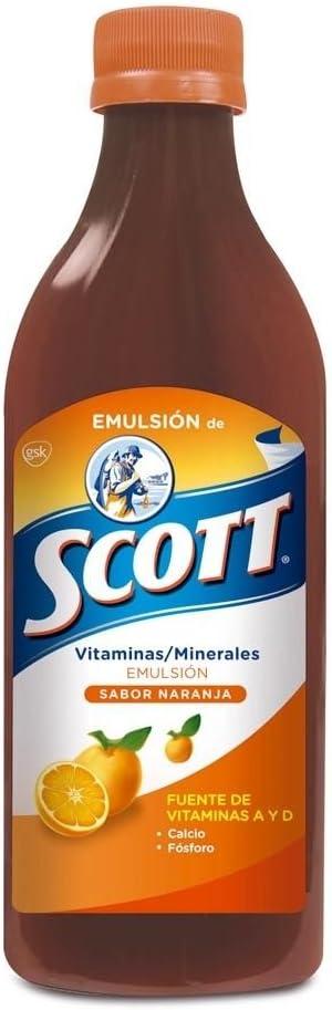 Scott Emulsion Atlanta Mall Orange Flavor - Suppl SEAL limited product 400ml Size Family Vitamin