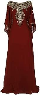 Aceil Kaftan for Women -3/4 Sleeve Maxi Dress, Elegent Luxury Party Wear