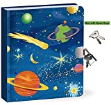 Peaceable Kingdom Kids Diary With Lock and Key Now with Spare Keys (Space Glow In The Dark)