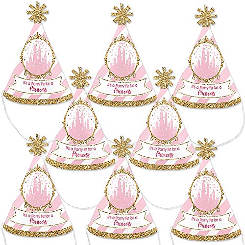 Save %17 Now! Big Dot of Happiness Little Princess Crown - Mini Cone Pink and Gold Princess Baby Sho...