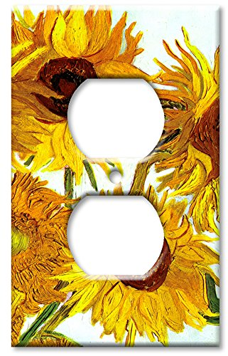 Art Plates - Outlet Cover OVERSIZE Switch Plate - Van Gogh: Sunflowers