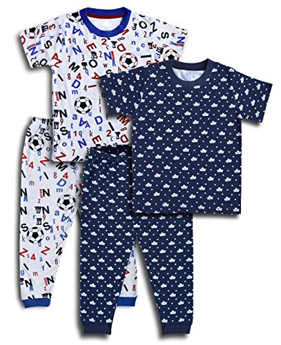 minicult Cotton Baby Night Suit with Pajama and Half seleve Tshirts for Boys and Girls(Pack of 2 Sets)(Multicolor)(5 to 6 Years)
