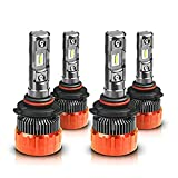MOSTPLUS 8000 Lumens 80W/Pair-9005+9006 All-in-One LED-TX1860 Chip Really Focused Headlight Bulbs Super Mini Conversion Kit Xenon White (2 Pairs)