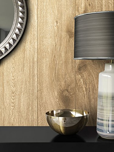 *Holz-Muster-Tapete Vlies Braun Beige Edel | schöne edle Tapete im Holzwand-Design | moderne 3D Optik für Wohnzimmer, Schlafzimmer oder Küche inkl. Newroom-Tapezier-Profibroschüre mit super Tipps!*