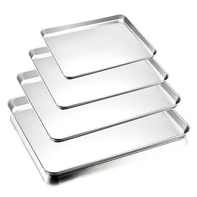 Baking Sheets Set of 4, E-far Stainless Steel R...