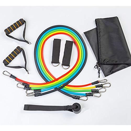 Oulensy 11pcs / Bandas Set Yoga Bandas de Resistencia del Ejercicio del Entrenamiento TrainingPull Cuerda de Goma elástica para Expansor de Fitness