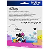 Brother ScanNCut Disney Pattern Collection 3 CADSNP03, Mickey and Friends Appliques, Includes 33 Intricate Designs for Home Décor, Vinyl Wall Art, Iron-on Transfers for Clothing, and More