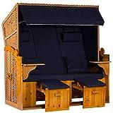 intergrill Strandschönheiten Eva Ostsee XXL Strandkorb 2,5-Sitzer Verschiedene Dekor Terrassen Wintergärten Garten