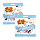 Jelly Belly Jelly Beans, mezcla de helado – Dulces sin gluten, vegetarianos y Kosher certificados, frijoles mezclados – Paquete de 2, 70 g de grano de gelatina