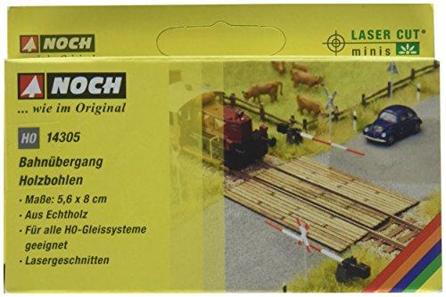 Noch - 14305 - Modélisme Ferroviaire - Passage À Niveau En Madriers - Laser-Cut Minis - 5,6 X 8,0 Cm