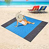 Beach Blanket, 79''¡Á83'' Picnic Blankets Waterproof Sandproof for 3-6 Adults, Oversized Lightweight Beach Mat, Portable Picnic Mat, Sand Proof Mat for Travel, Camping, Hiking.