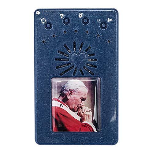 Holyart Rosario Elettronico Blu Giovanni Paolo II Litanie Lauretane, Volto - Abito Bianco