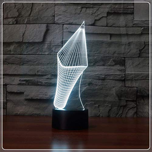 3D-lampenlicht LED-nachtlampjes 7 kleuren touch tafellampen USB-interface creatief cadeau (Big Headed potlood)