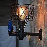Plafoniera LED Applique da parete industriale del vento del metallo del gabinetto del loft del metallo dell'annata delle luci di tubo delle luci del caffè di Internet della cucina delle isole della pa