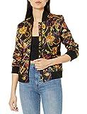 True Religion Women's Gold Loong Sleeve Satin Jacket, True Chain, S