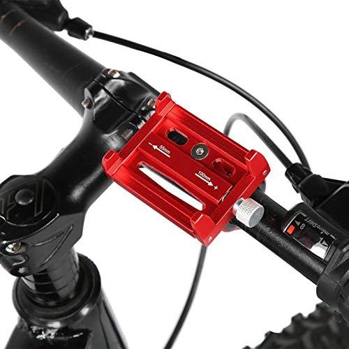 DAUERHAFT Soporte para teléfono para Bicicleta, Almohadilla de Silicona Interior Antideslizante, para Bicicleta(Red)