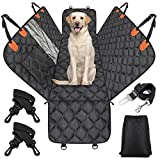 Dog Car Seat Cover Waterproof JOEJOY Dog Car Hammock With Mesh Window And Side Flaps, Back Seat Dog Cover For Dogs Scratch Proof Nonslip Pet Seat Protector Cover For Most Cars/SUV (55.9