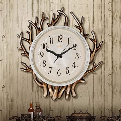 Pays d'Amérique horloge murale branche salon horloge restaurant européen quartz montre murale ménage moderne simple créativité (Couleur : B)