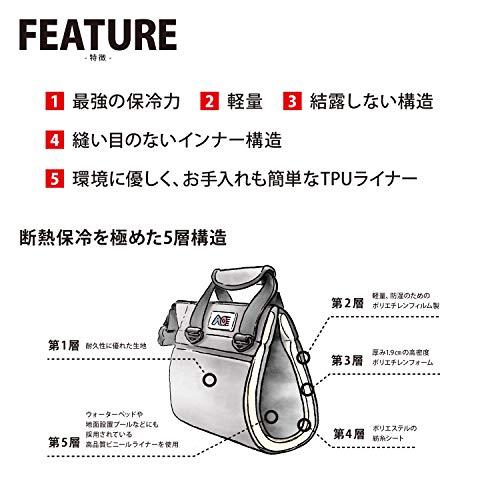 AOCoolers(エーオークーラー)12パックバリスティックソフトクーラーチャコール頑丈軽量保冷クーラーボックスAOBA12CH(日本正規品)