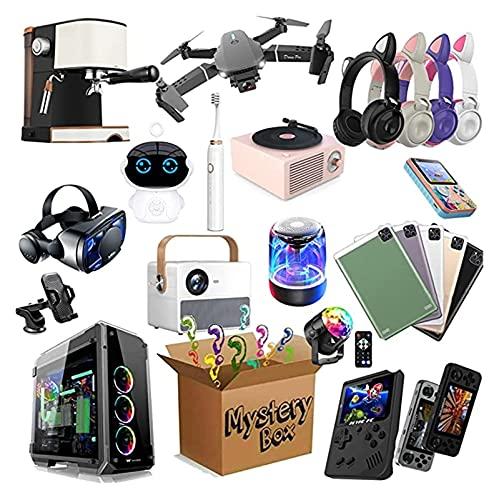 Mystery Lucky Box Caja de misterio, caja de misterio electrónico, paquete sorpresa, paquete sorpresa aleatorio contiene regalos inesperados, estilo aleatorio: DIRIGIÓ Gafas de luz, Drones Plegables, C