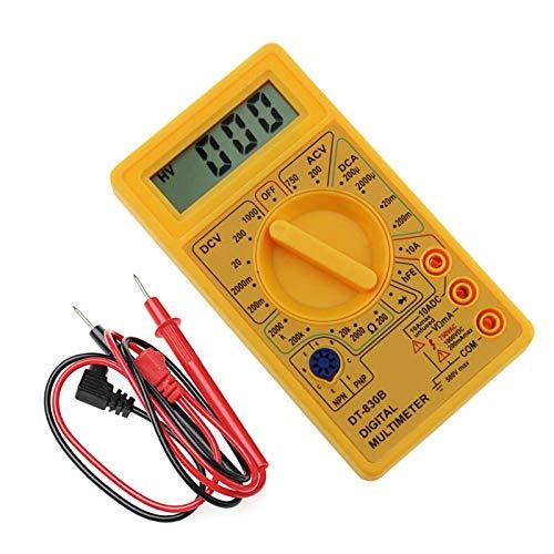 Medidor universal digital 1SET LCD Multímetro digital CA/DC 750 / 1000V Mini sonda multimétrica digital para voltímetro AMMETER OHM EDHM TESTER METER Corriente de voltaje Seguro y exacto