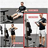 Valor Fitness CB-12 Lat Pulldown Machine, Low Row Machine, Cable Curl Bar, and Ab Machine Home Gym Equipment