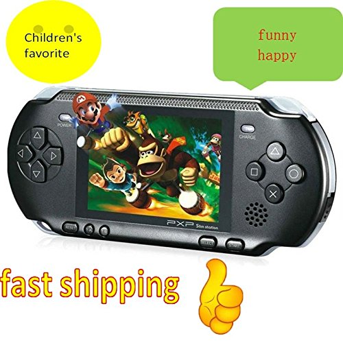 Best Selling Kids Gift 16 Bit Handheld Game Console Video Games 150 Games Retro MD Paly Games PXP3 (Color: Black)