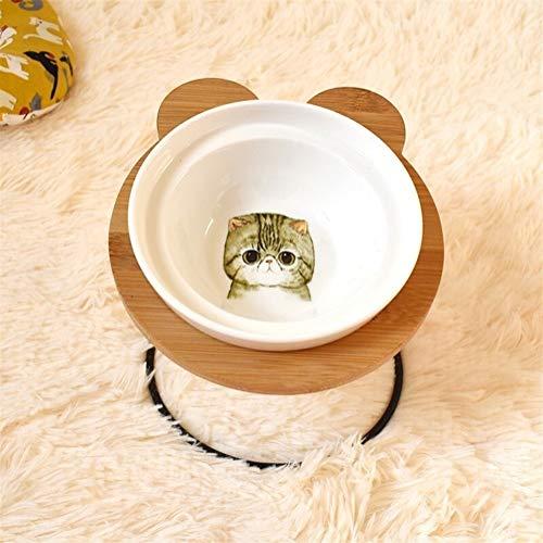Huisdier hond kat Bowl, Mode High-end Huisdier Bowl Verschillende Cartoon Patronen RVS Plank Keramische Bowl voeden en drinken Bowls voor Hond en Kat S Ik