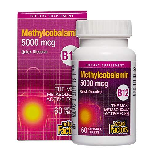 B12 Methylcobalamin (5000mcg) 60 tabs